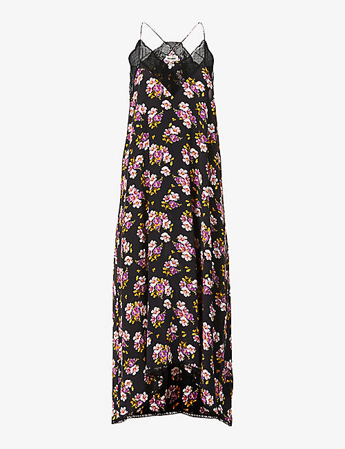 ZADIG&VOLTAIRE: Risty floral silk-crepe midi dress