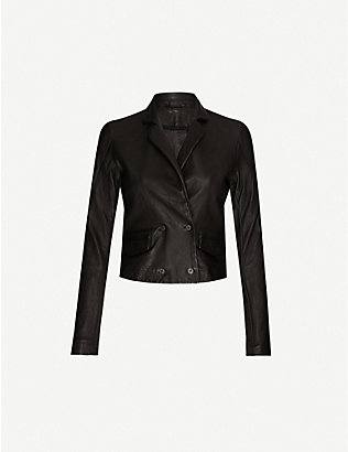 10SEIOTTO: Double-breasted leather jacket