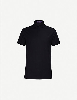 RALPH LAUREN PURPLE LABEL: RLX logo-embroidered jersey polo shirt