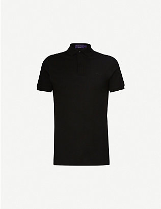 RALPH LAUREN PURPLE LABEL: RLX logo-embroidered stretch-cotton polo shirt