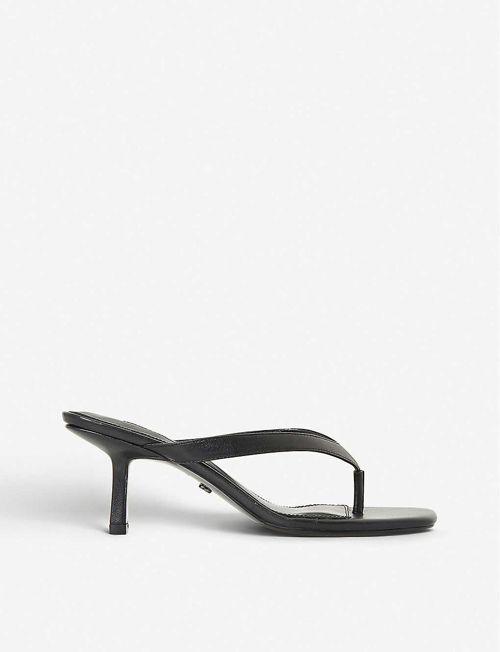 DUNE: Madox heeled leather sandals