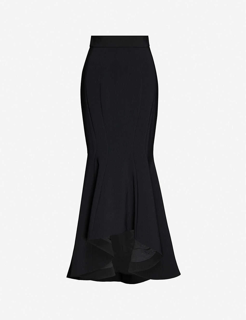 ALEXANDRE VAUTHIER: Flared high-waisted stretch-woven maxi skirt