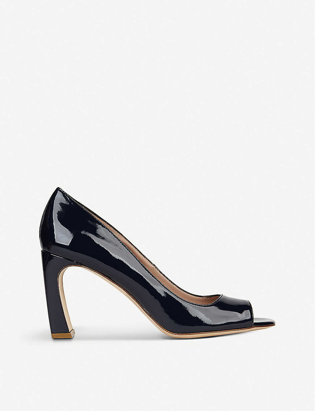 LK BENNETT: Harper patent-leather peep-toe courts