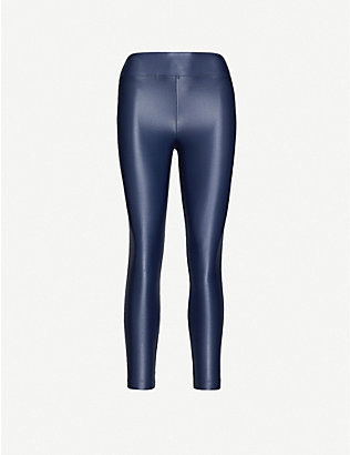 KORAL: Lustrous high-shine stretch-jersey leggings