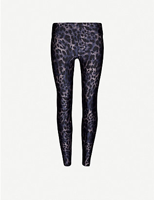KORAL: Cheetara animal-print high-rise stretch-jersey leggings