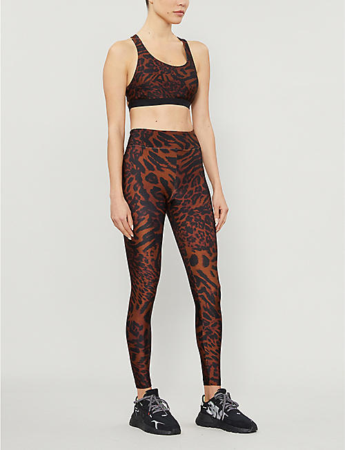 KORAL Cheetara animal-print stretch-jersey sports bra