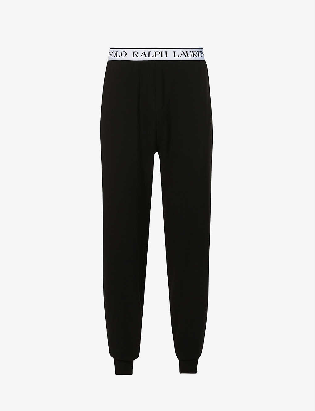 POLO RALPH LAUREN: Logo-embroidered relaxed-fit stretch-cotton jersey jogging bottoms
