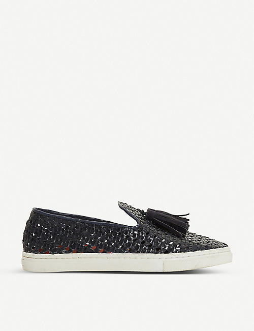 BERTIE: Edenna tassel-embellished leather trainers