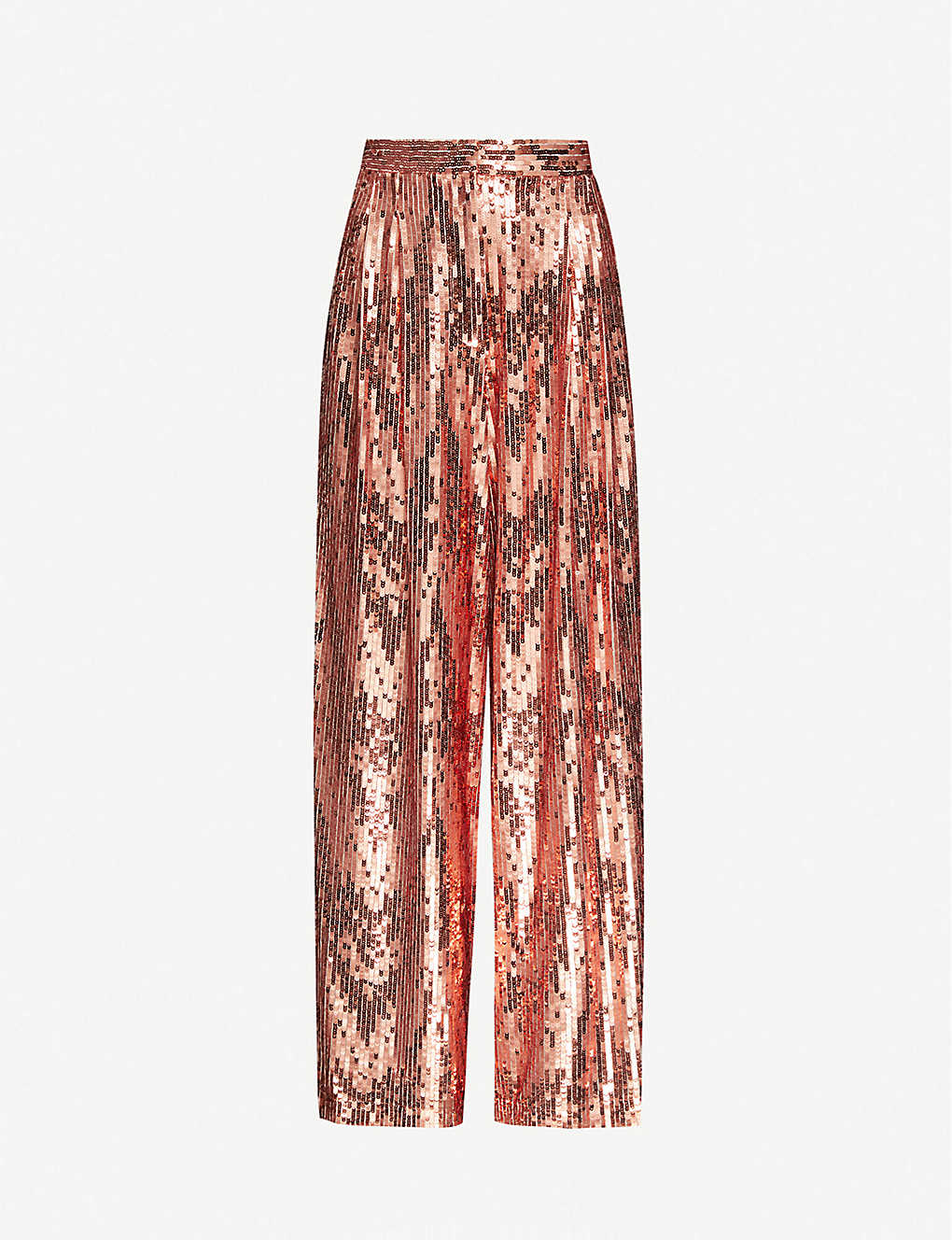 TOPSHOP: High-rise sequinned wide-leg trousers