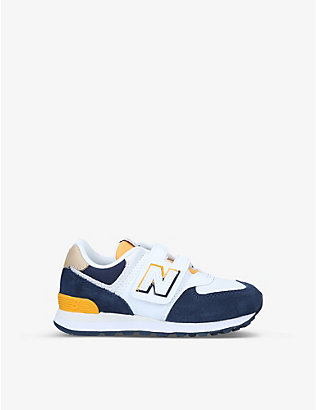 NEW BALANCE: 574 Hook and Loop trainers 6-9 years