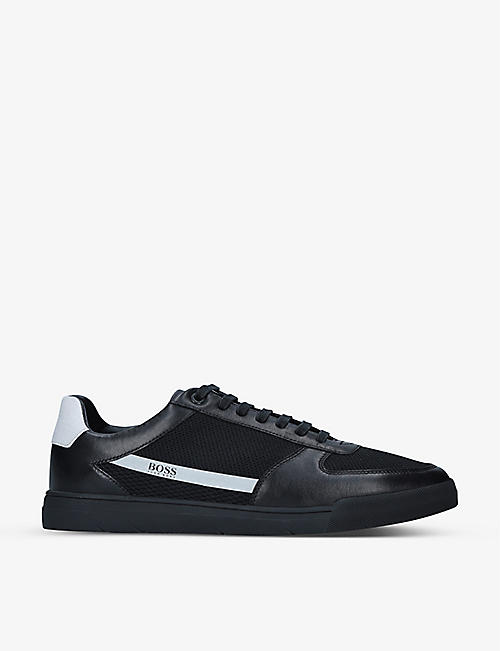 BOSS: Cosmopool leather low-top trainers