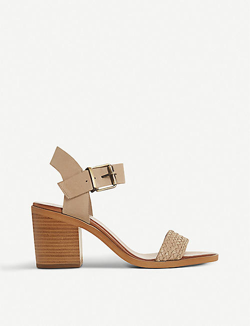 BERTIE: Irine leather heeled sandals