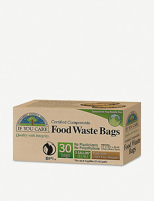 IF YOU CARE: Compostable food waste bags box of 30