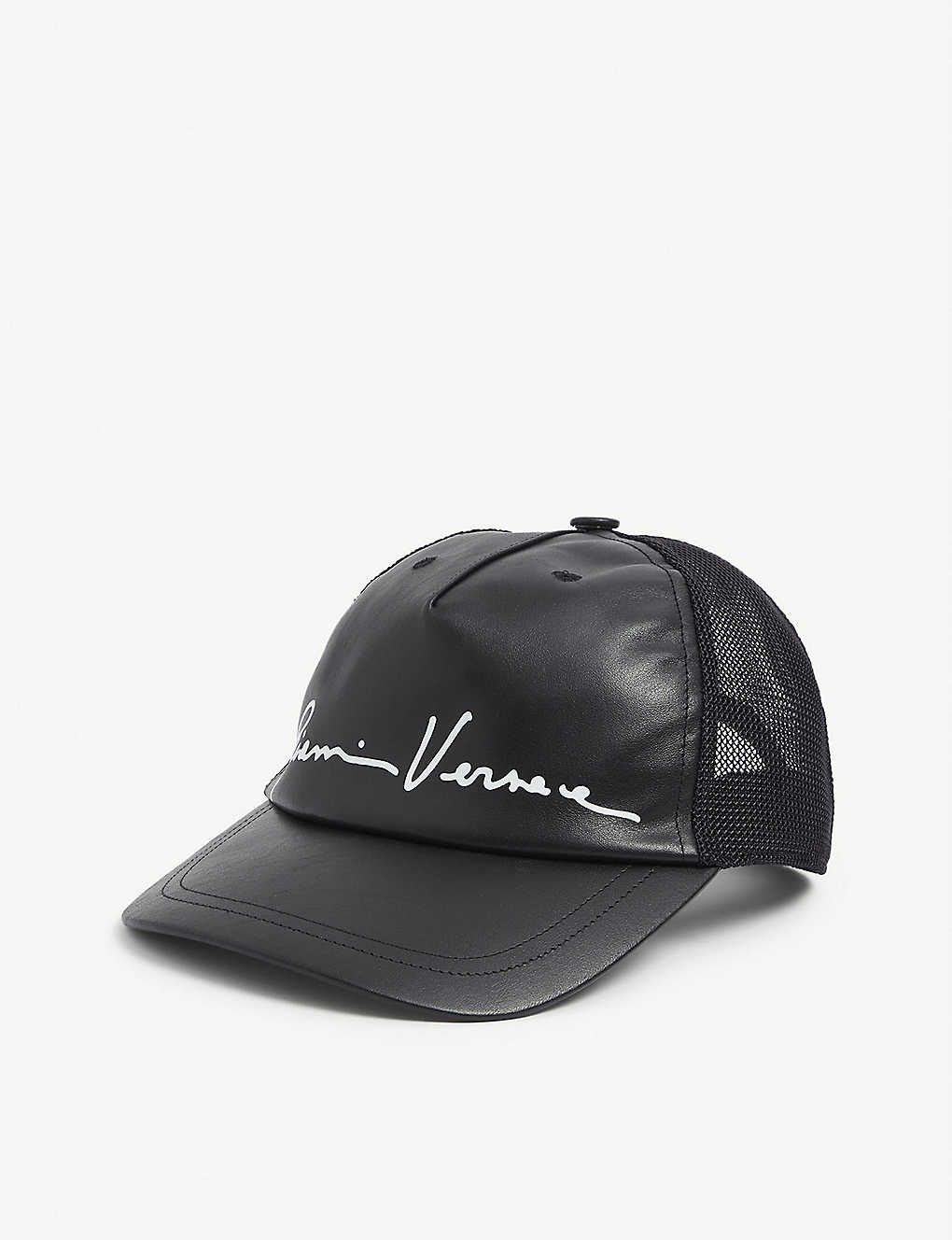 VERSACE: Venice leather baseball cap