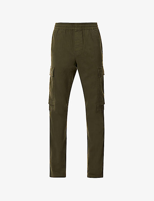 J BRAND: Fenix tapered stretch-cotton trousers