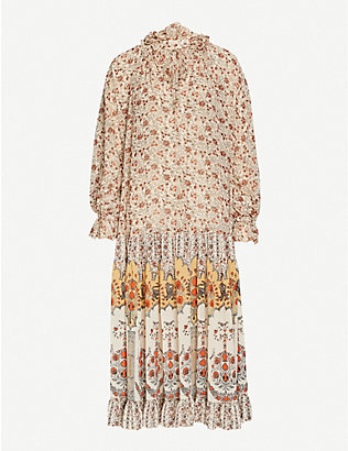 FREE PEOPLE: Feeling Groovy floral-print woven maxi dress