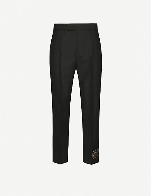 GUCCI: Straight-fit woven trousers