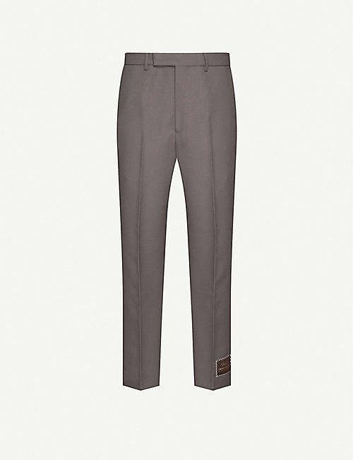 GUCCI: Straight-fit mid-rise woven trousers