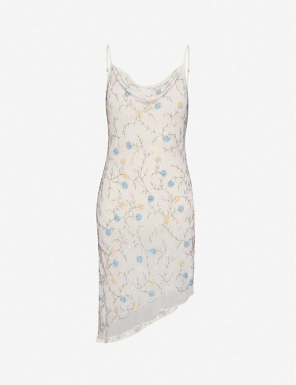TOPSHOP: Embellished chiffon mini dress