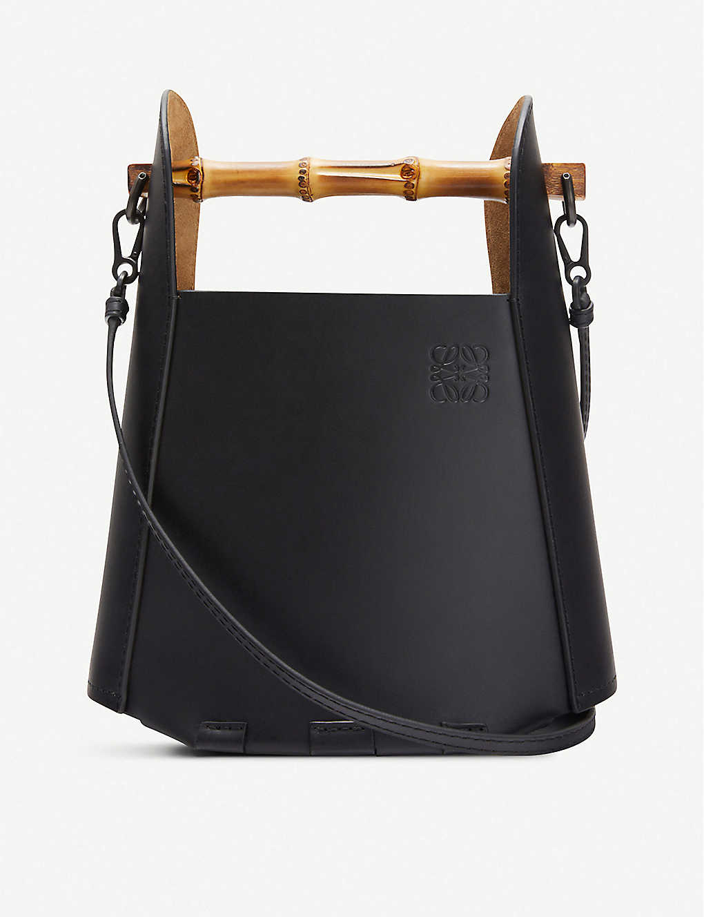 LOEWE: Bamboo and leather bucket bag