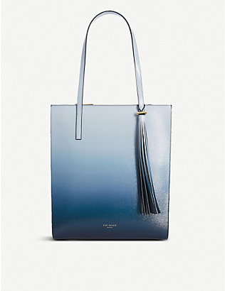 TED BAKER: Mehraa patent-leather shopper bag