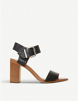 BERTIE: Iraya buckled leather sandals