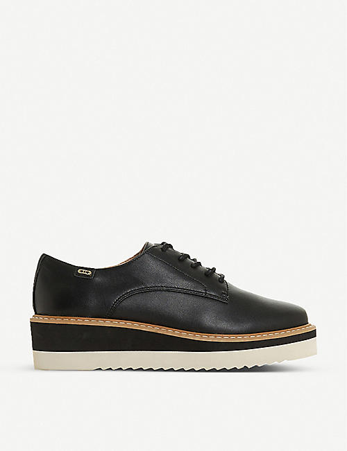 DUNE: Falon platform leather brogues