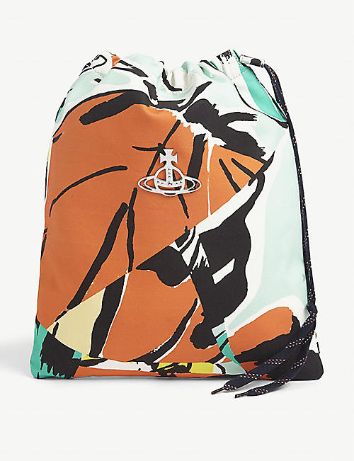 VIVIENNE WESTWOOD: Abstract-print cotton drawstring wash bag