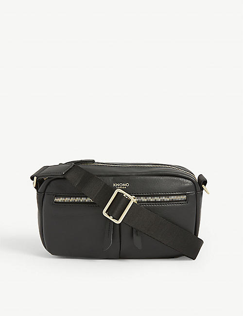KNOMO: Brook mini leather cross-body bag