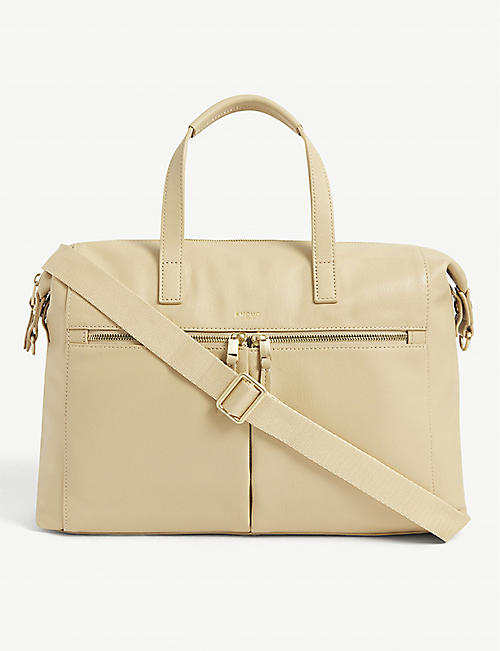 KNOMO: Audley leather laptop handbag