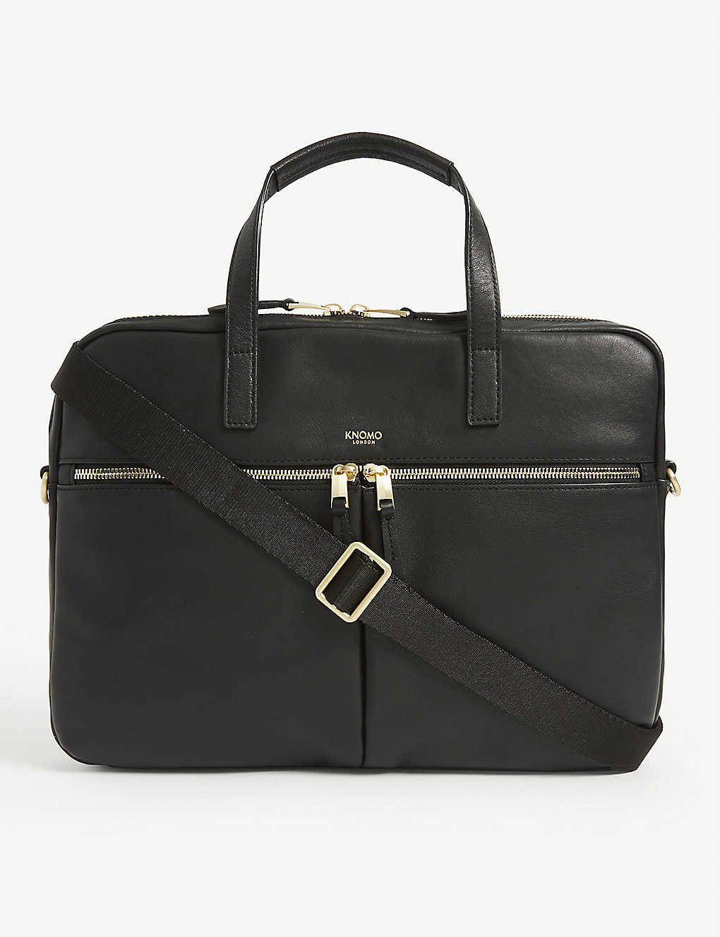 KNOMO: Hanover leather briefcase