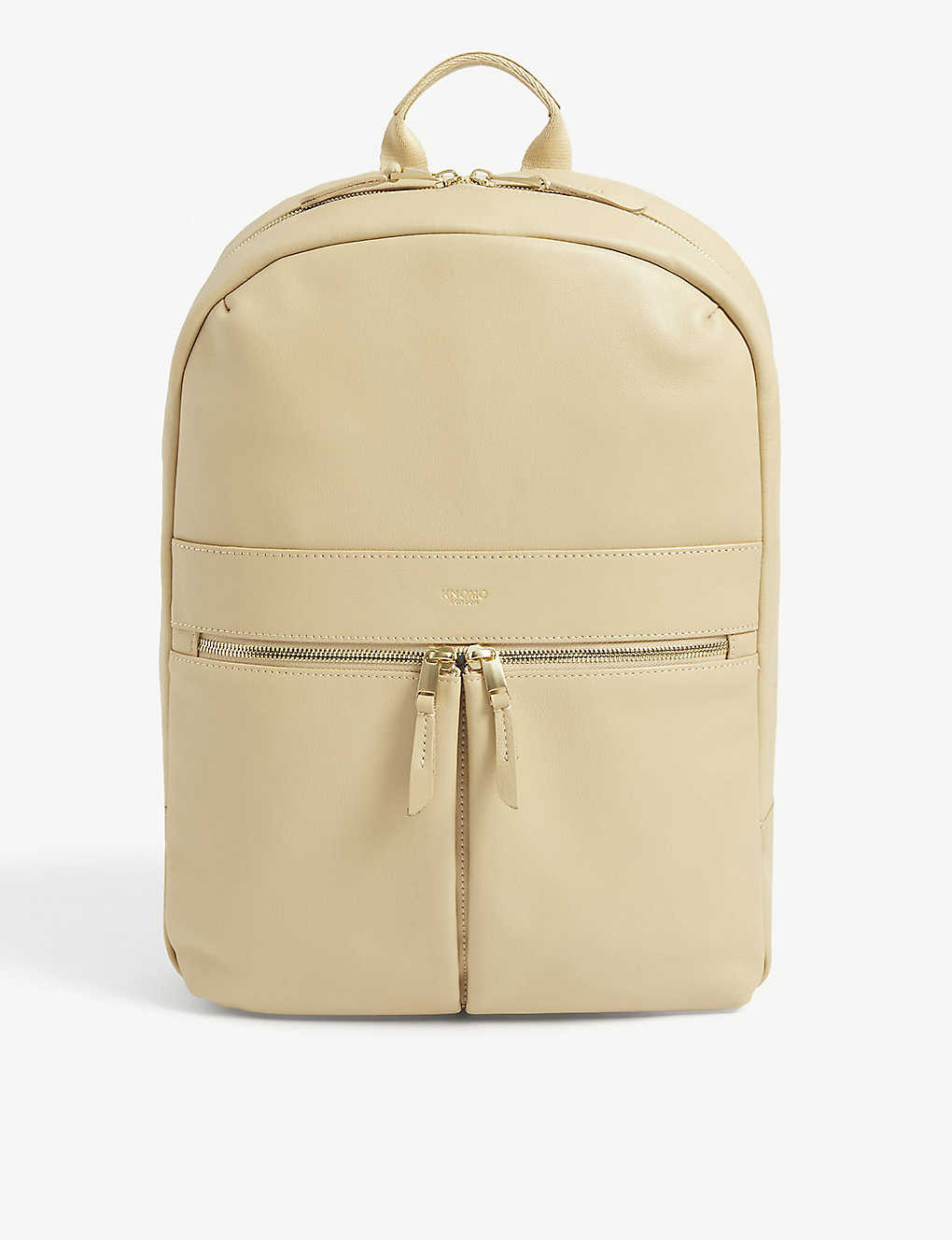 KNOMO: Mayfair Beauchamp leather and nylon backpack