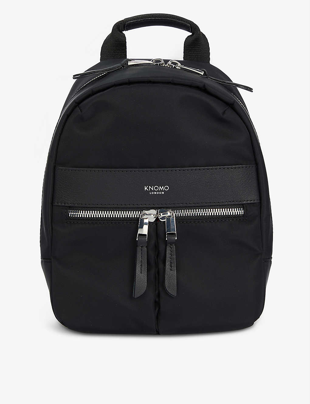 KNOMO: Beauchamp logo-print extra-small woven backpack