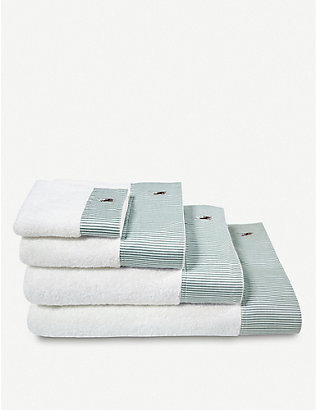 RALPH LAUREN HOME: Oxford striped cotton bath linen