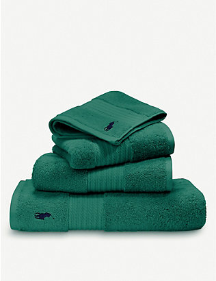 RALPH LAUREN HOME: Player cotton bath sheet 90cm x 170cm