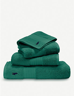 RALPH LAUREN HOME: Player cotton bath towel 75cm x 140cm