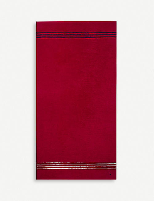 RALPH LAUREN HOME: Travis Red Rose cotton bath sheet 90x170cm