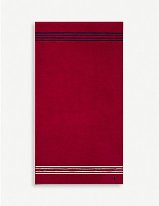 RALPH LAUREN HOME: Travis Red Rose cotton bath towel 75x140cm