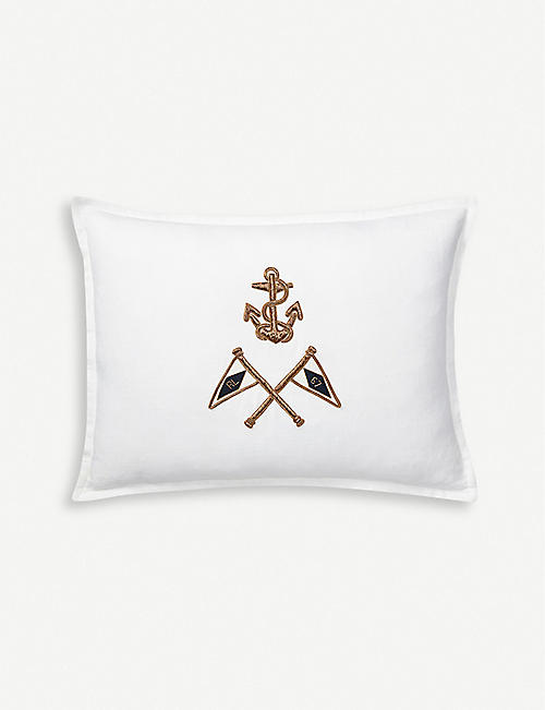 RALPH LAUREN HOME: Grand Voyage cotton cushion cover 65cm x 65cm