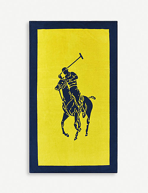 RALPH LAUREN HOME: Polo Player cotton jacquard beach towel 100cm x 170cm