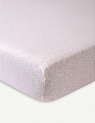 YVES DELORME: Calypso cotton single fitted sheet 200x190cm