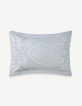 YVES DELORME: Odyssee cotton-sateen Oxford pillowcase 50x70cm