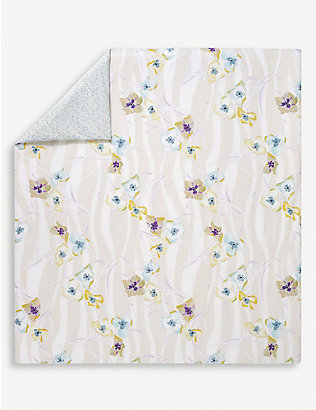 YVES DELORME: Ondee cotton-percale duvet cover