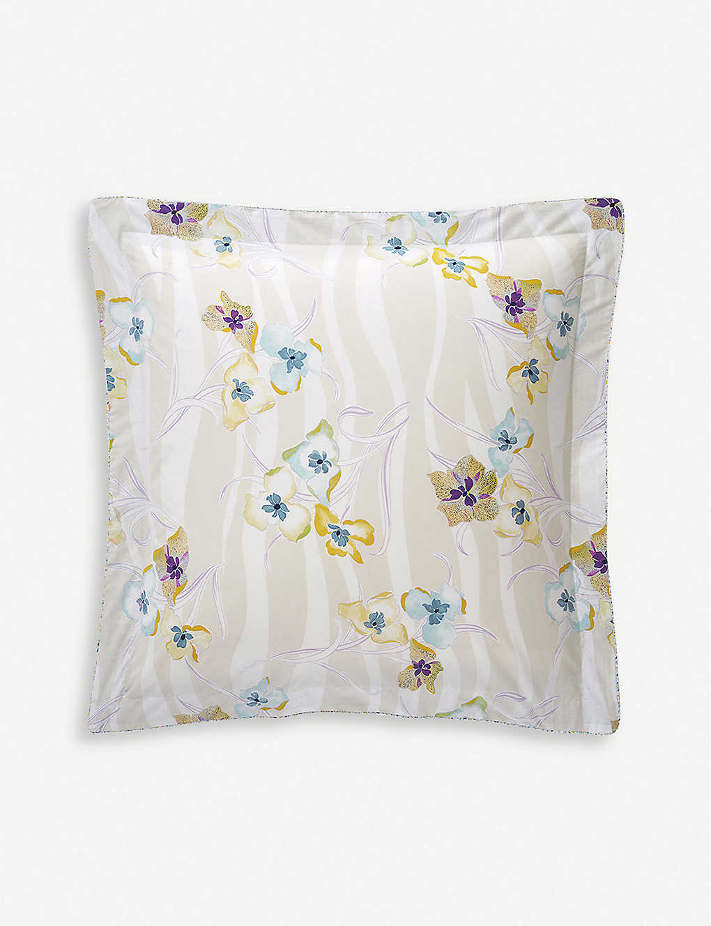 YVES DELORME: Ondee cotton-percale oxford pillowcase 50x50cm