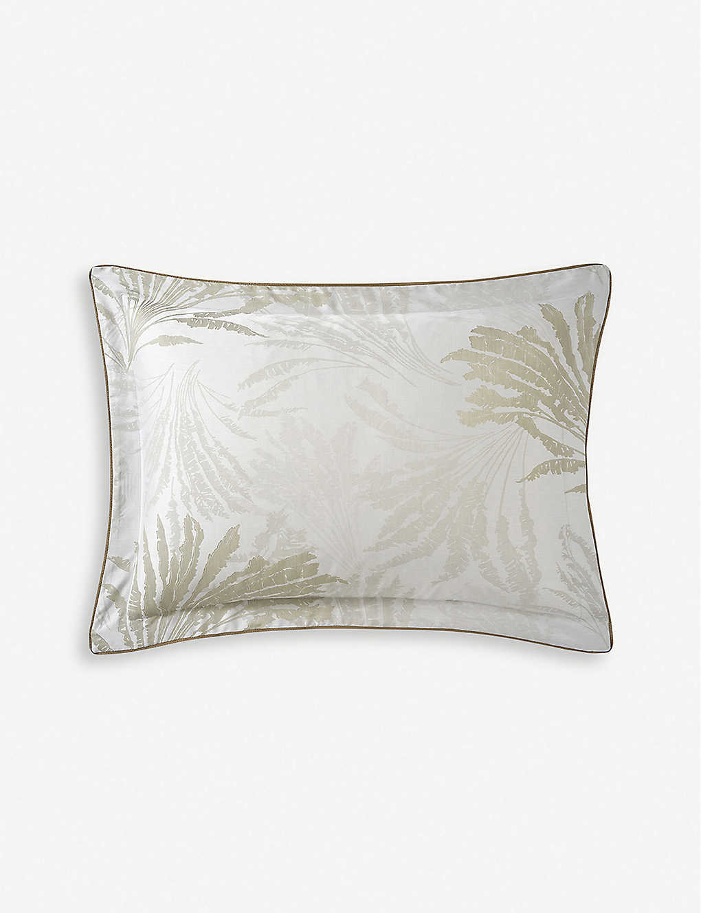 YVES DELORME: Palmea cotton oxford pillowcase 50x70cm