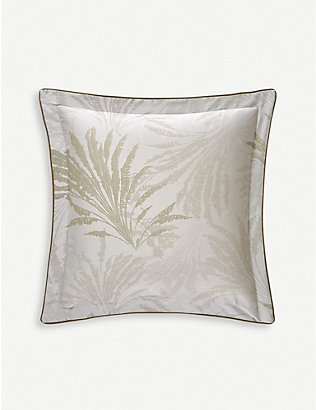 YVES DELORME: Palmea cotton oxford pillowcase 50x50cm