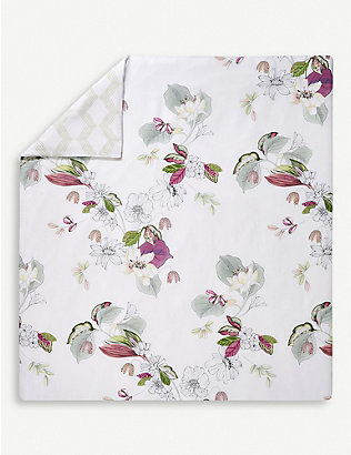 YVES DELORME: Riviera cotton duvet cover