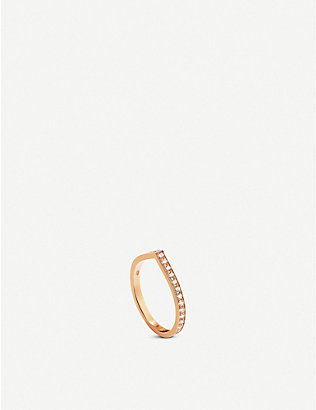 REPOSSI: Antifer 18ct pink-gold and diamond ring
