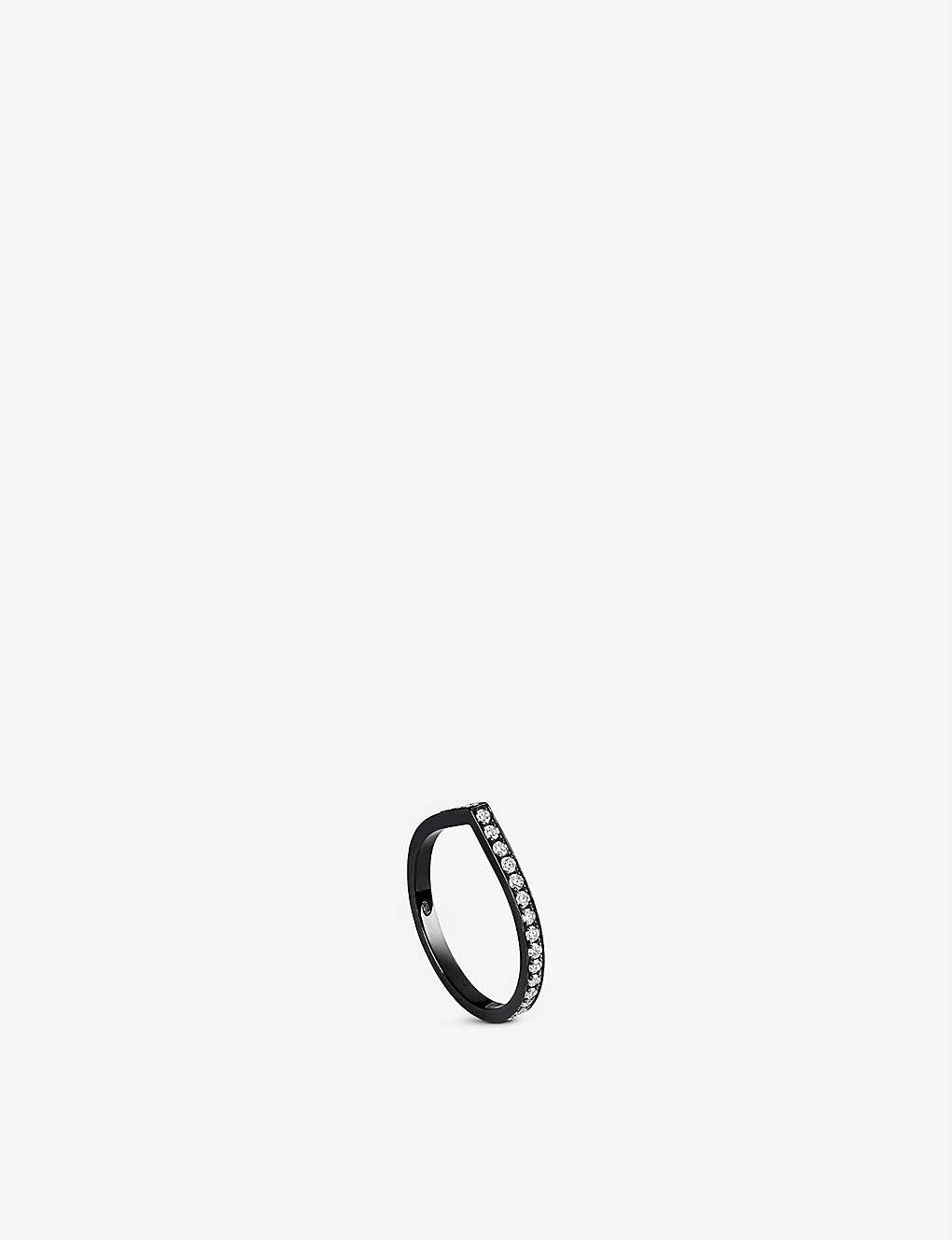 REPOSSI ANTIFER BLACK-GOLD AND DIAMOND RING