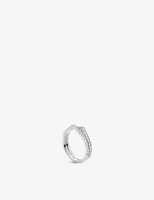 REPOSSI: Antifer 18ct white-gold and diamond ring